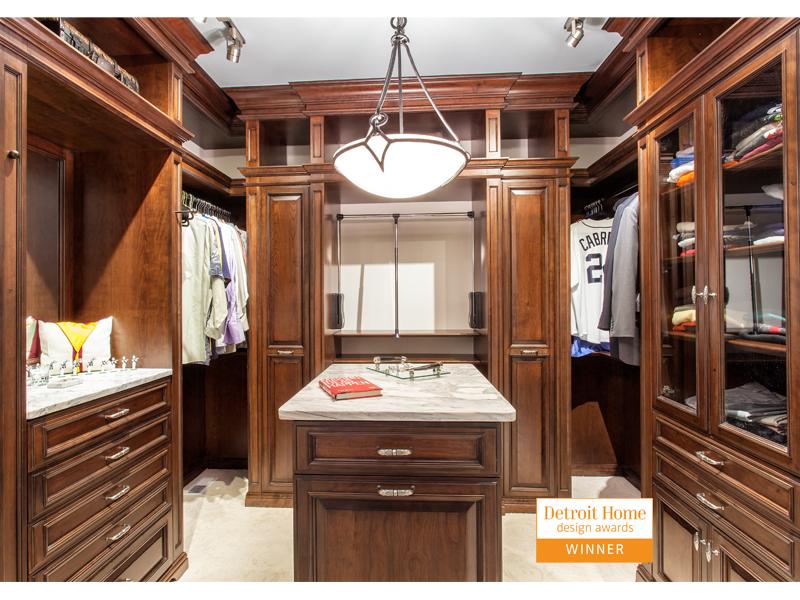 Detroit Home Design Awards Winning Closet 2015